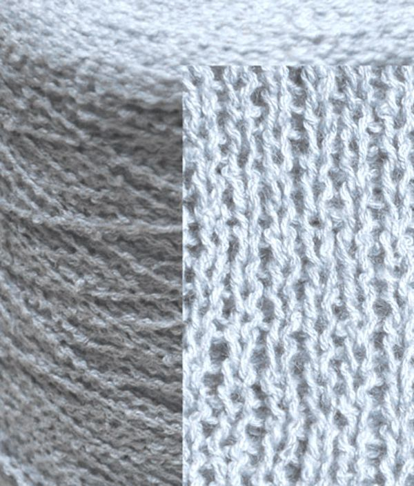 950g Fine double knit knop pale blue Ramie and cotton mix
